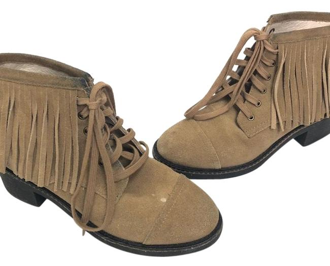 House of Harlow 1960 Tan Suede Brown Fringes Boots/Booties Size US 6 Regular (M, B) House of Harlow 1960 Tan Suede Brown Fringes Boots/Booties Size US 6 Regular (M, B) Image 1
