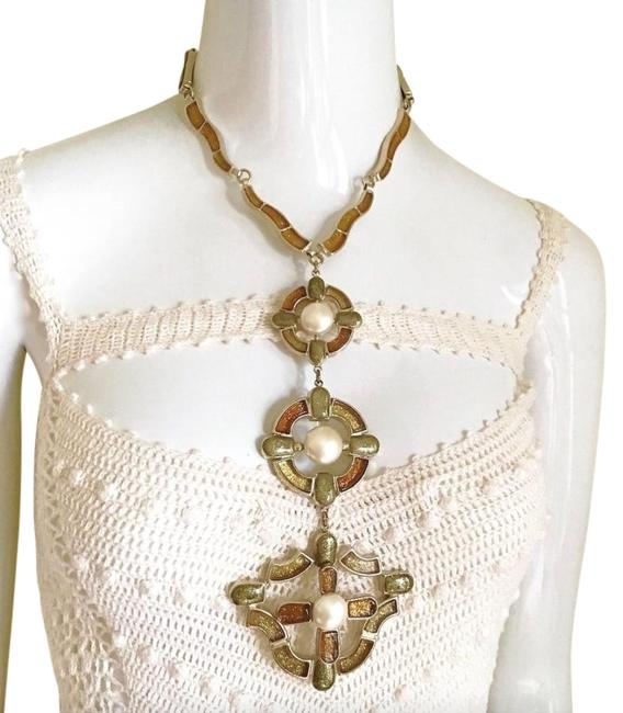 """Chanel """"Showstopper✿*゚ Monte Carlo Shimmering Poured Glass Ex Long Necklace Chanel """"Showstopper✿*゚ Monte Carlo Shimmering Poured Glass Ex Long Necklace Image 1"""