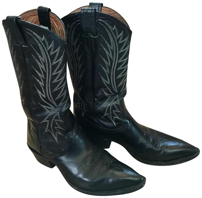 Nocona Black Leather Western Boots/Booties Size US 8 Regular (M, B) Nocona Black Leather Western Boots/Booties Size US 8 Regular (M, B) Image 1