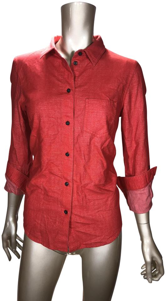 9ba36d0ee74eb3 Broadway   Broome Rustic Red Button-down Top Size 4 (S) - Tradesy