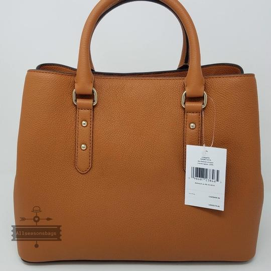 Kate Spade Satchel in warm cognac