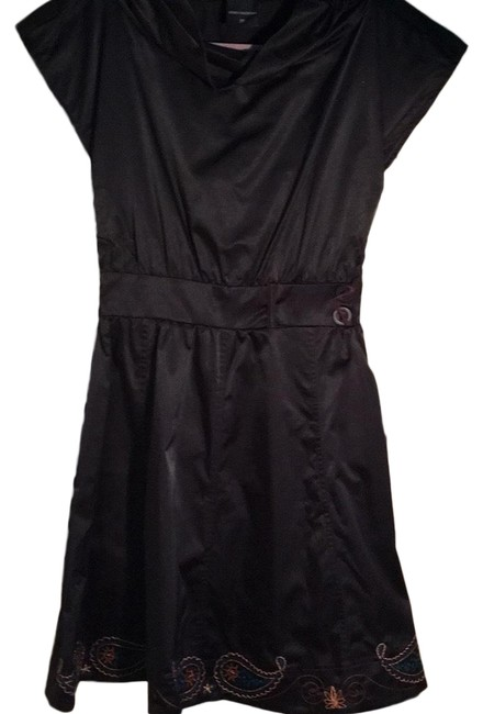 Preload https://img-static.tradesy.com/item/24414996/black-cap-sleeve-fitted-short-night-out-dress-size-petite-2-xs-0-1-650-650.jpg