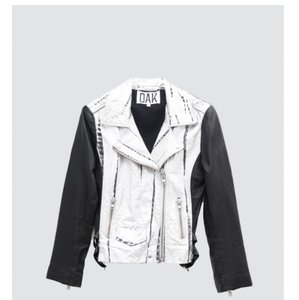 OAK Black, Silver Leather Jacket