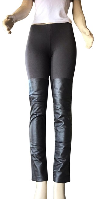 Item - Brown Coffee Unique Womens Real Leather Over The Knee Zipper Unravel Pants Size 4 (S, 27)