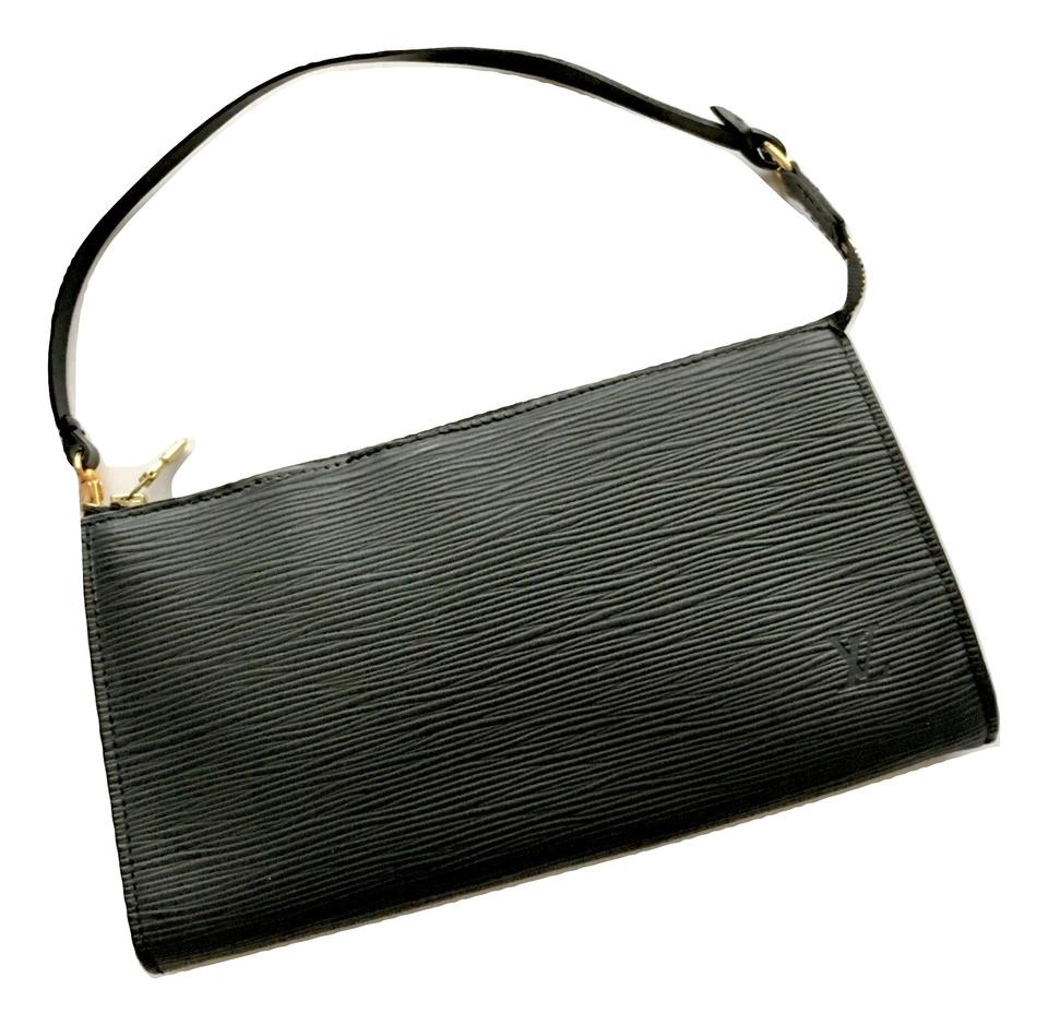 Louis Vuitton Pochette Accessoires Pochette Clutch Black Epi Leather ... a229541aa5