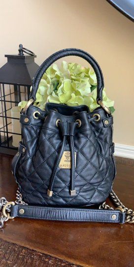 MCM Leather Quilted Chain Crossbody Shoulder Bag