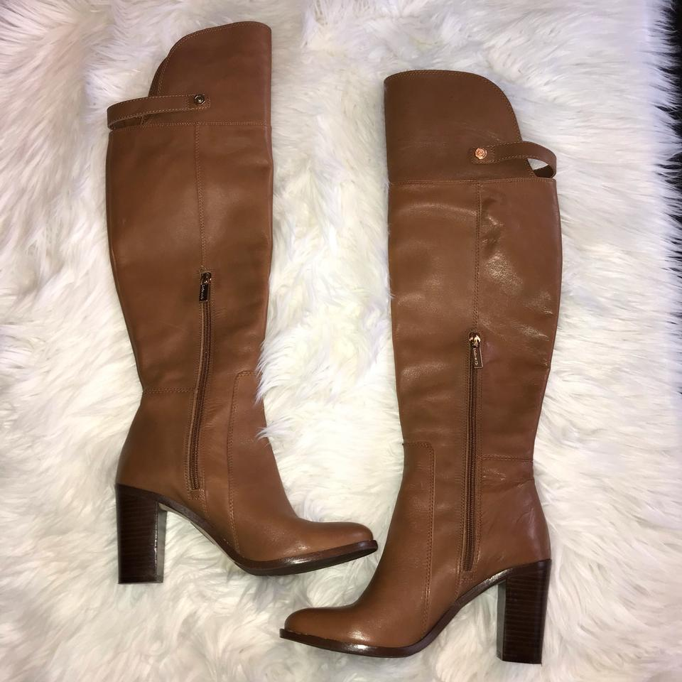 9d3fdacde16 Louise et Cie Cognac Navaria Over The Knee Boots Booties Size US 7 ...