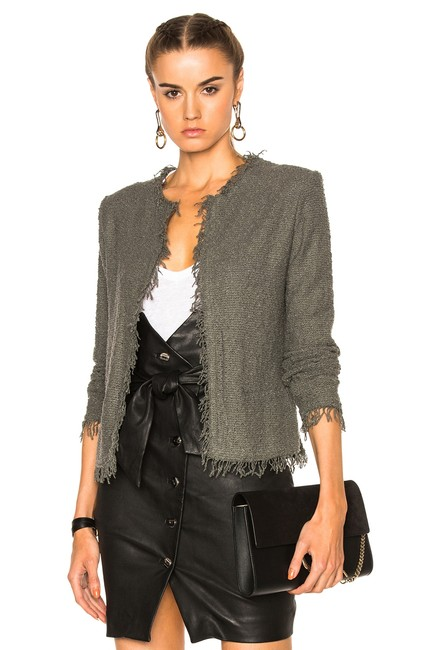 Preload https://img-static.tradesy.com/item/24415159/iro-gray-shavani-steel-boucle-knit-fringe-blazer-jacket-size-2-xs-0-0-650-650.jpg