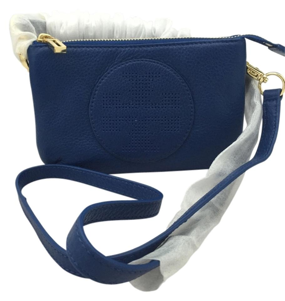 Tory Burch Small Kipp Cross Body Bag Blue Blue 46 Off