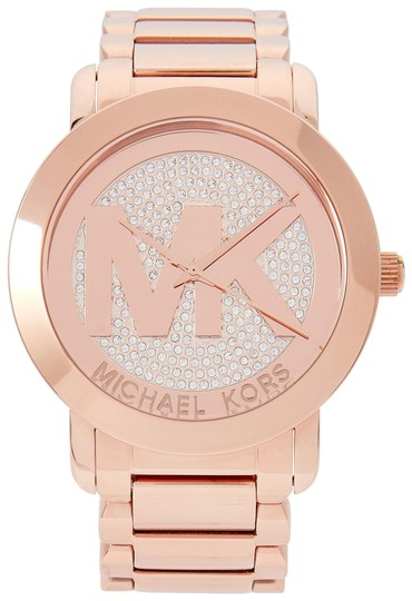 Preload https://img-static.tradesy.com/item/24415260/michael-kors-gold-rosegold-new-design-large-runway-glitz-watch-0-2-540-540.jpg