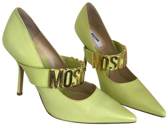 Preload https://img-static.tradesy.com/item/24415345/moschino-green-classic-logo-heels-pumps-size-us-6-regular-m-b-0-1-540-540.jpg