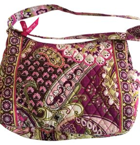 vera bradley retired pattern cross body hipster yellow and pink ... e85399e89a