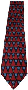 Gucci Gucci Spyglass Magnifying Glass 100% Silk Necktie Tie Red Blue