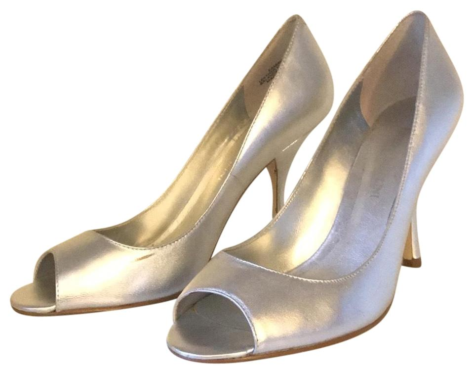 Enzo Angiolini Silver Peep-toe Stilleto Formal Shoes Size US 6.5 ... 59fad60e7db2