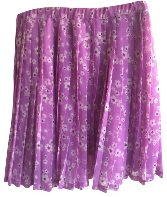 Lavender Purple Pleated Skirt Size 6 (S, 28) Lavender Purple Pleated Skirt Size 6 (S, 28) Image 1