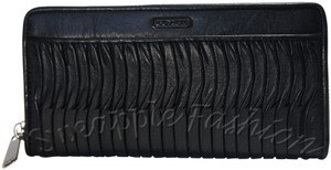 Coach F49889 Taylor Gathered Leather Accordion Zip Around Wallet
