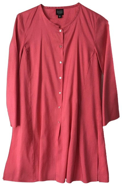 Preload https://img-static.tradesy.com/item/24415568/eileen-fisher-pink-78121-tunic-size-petite-4-s-0-1-650-650.jpg