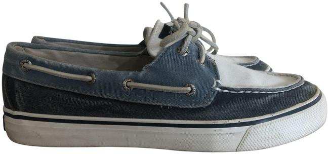 Sperry Navy/White/Surf Bahama Canvas Boat Sneakers Size US 8 Regular (M, B) Sperry Navy/White/Surf Bahama Canvas Boat Sneakers Size US 8 Regular (M, B) Image 1