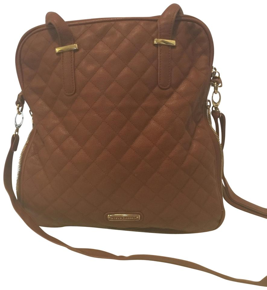 b9a0e151e34 Steve Madden Quilted Crossbody Copper Faux Leather Satchel - Tradesy