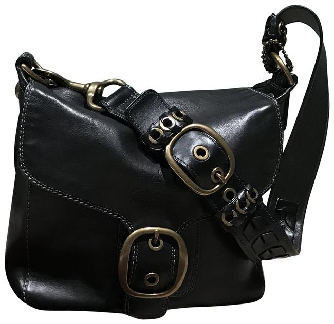 Coach Braided Bleeker Black Leather Shoulder Bag Coach Braided Bleeker Black Leather Shoulder Bag Image 1