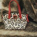 Dooney & Bourke Satchel in Cheetah print, red