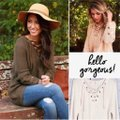 dalia + jade Os Chunky Lace Up V-neck Tunic Grommet 353 Beige Sweater dalia + jade Os Chunky Lace Up V-neck Tunic Grommet 353 Beige Sweater Image 6