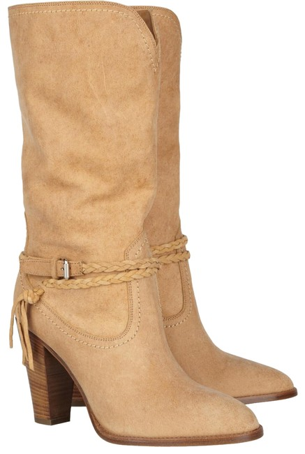 Ralph Lauren Collection Sandy Camel Purple Label Nala Mid-calf Leather New Boots/Booties Size US 8 Regular (M, B) Ralph Lauren Collection Sandy Camel Purple Label Nala Mid-calf Leather New Boots/Booties Size US 8 Regular (M, B) Image 1