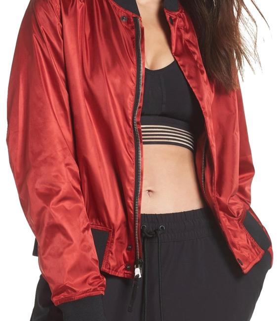 Preload https://img-static.tradesy.com/item/24416094/red-and-black-collection-women-s-satin-bomber-jacket-activewear-size-4-s-0-1-650-650.jpg