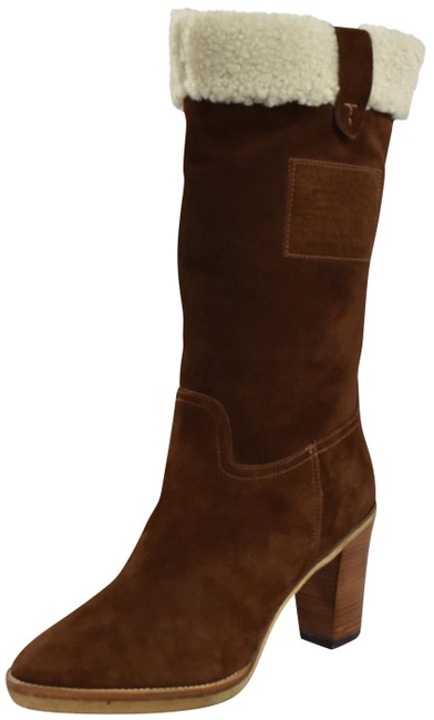 Ralph Lauren Collection Snuff Purple Label Suede Shearling Mertie New Boots/Booties Size US 7.5 Regular (M, B) Ralph Lauren Collection Snuff Purple Label Suede Shearling Mertie New Boots/Booties Size US 7.5 Regular (M, B) Image 1