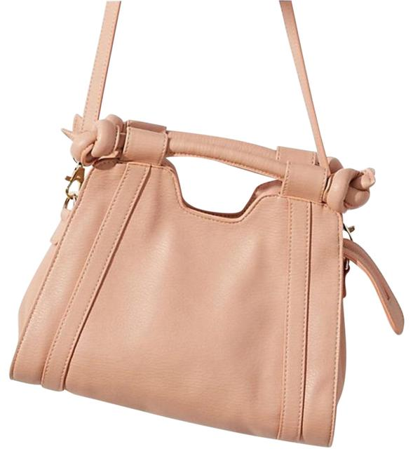 Item - Knotted Cream Pink Faux Leather Cross Body Bag