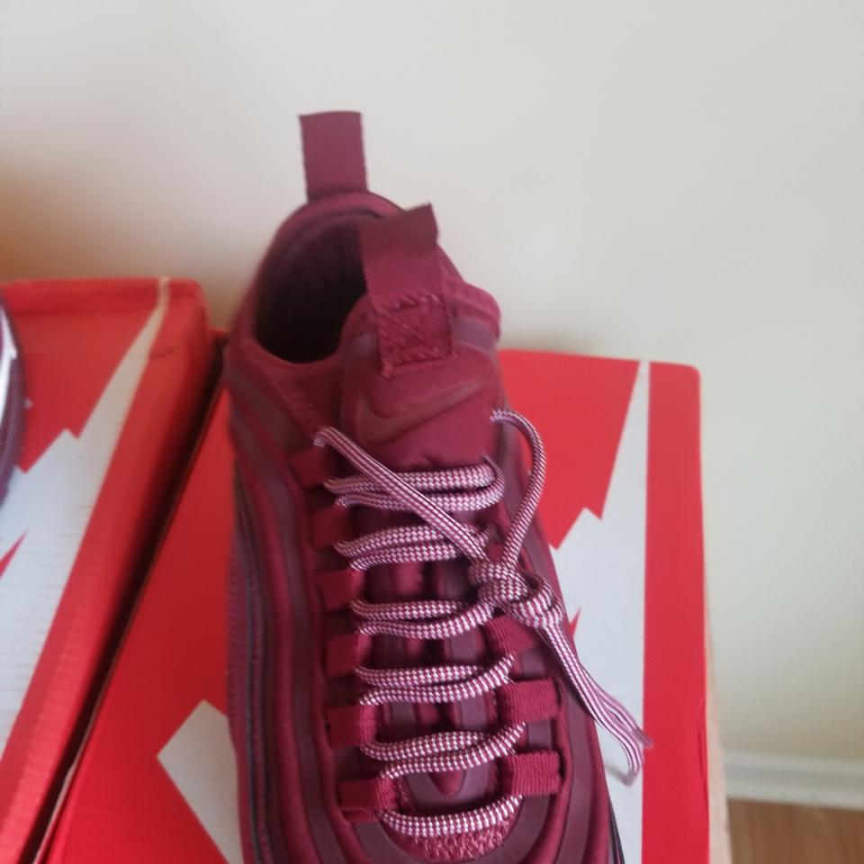 ce36643c63 Nike Wine Red / White Air Max 97 Ultra 17' Se Sneakers Size US 12 ...