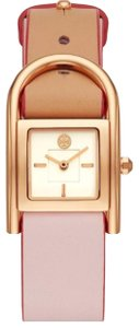 Tory Burch new NEW Tory Burch TBW7502 Rose Gold Steel Beige & Blush Leather Band Women's Watch