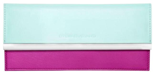 Item - New Stewart Stand Wallet Pink Blue Leather Stainless Steel Clutch