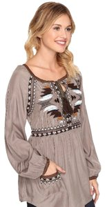 Double D Ranchwear Top Taupe