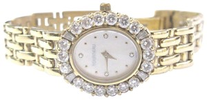 Tourneau 18Kt Tourneau Mother of Pearl Dial Diamond Yellow Gold Watch 2.30Ct
