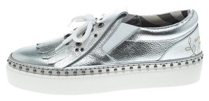 Burberry Silver Flats