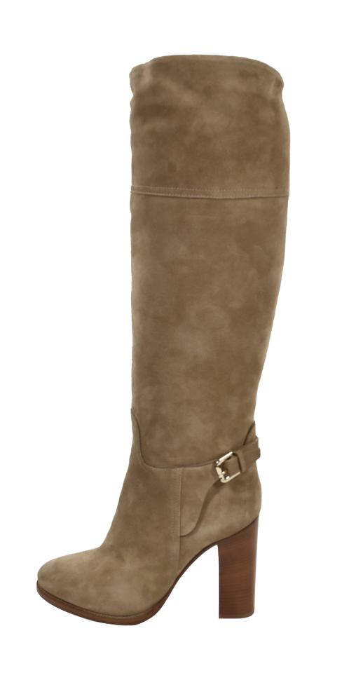 a3e6aea724b Ralph Lauren Collection Purple Label Suede Riding Knee High Taupe Boots  Image 0 ...