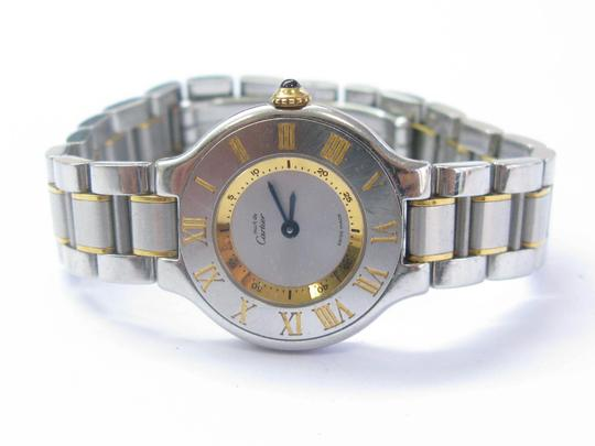Preload https://img-static.tradesy.com/item/24416485/cartier-stainless-steel-must-de-and-18k-yellow-gold-watch-1340-com189-cosmetic-bag-0-1-540-540.jpg