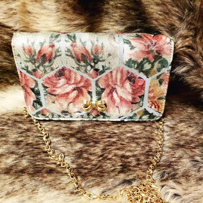 Ted Baker Evening Teal/ Floral Fabric Cross Body Bag Ted Baker Evening Teal/ Floral Fabric Cross Body Bag Image 1