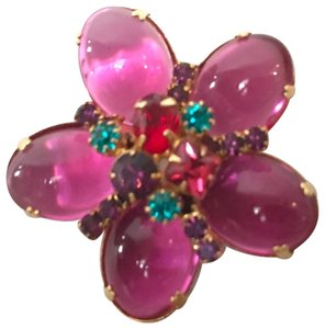 Boos Austrian Style Fragments Rose Brooch