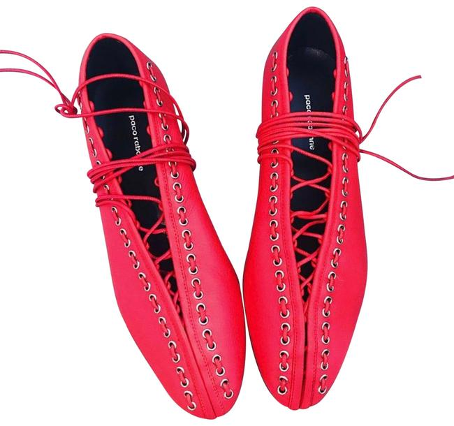paco rabanne Red Boxing Ballerina Flats Size EU 35 (Approx. US 5) Regular (M, B) paco rabanne Red Boxing Ballerina Flats Size EU 35 (Approx. US 5) Regular (M, B) Image 1