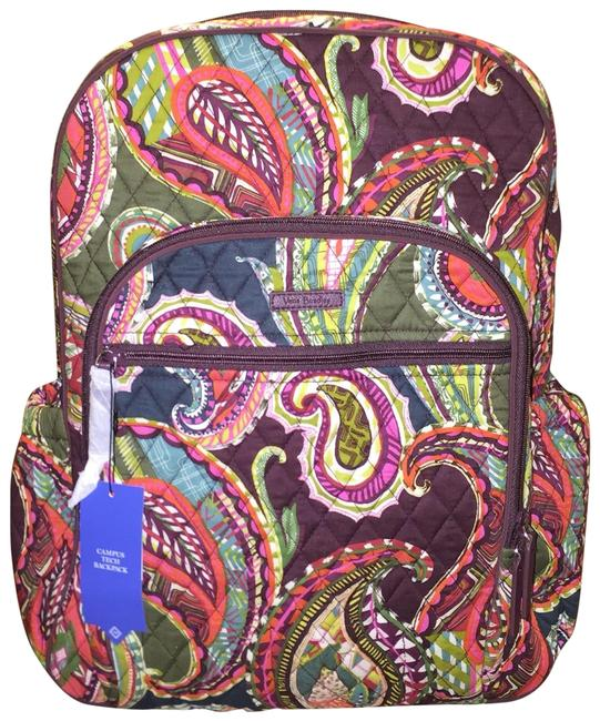 Item - Campus Tech Heirloom Paisley Multicolor Cotton Backpack