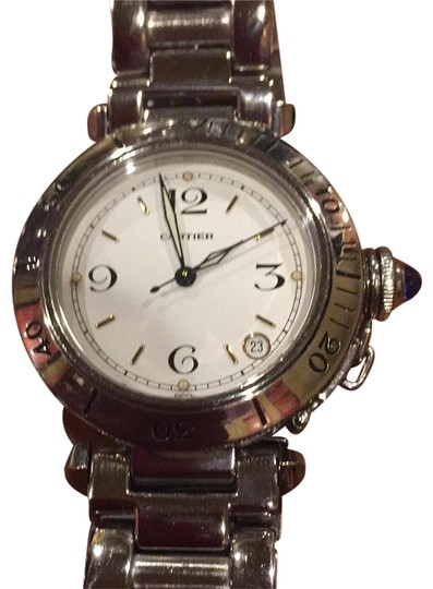 Preload https://img-static.tradesy.com/item/24416608/cartier-silver-pascha-ladies-watch-fragrance-0-1-540-540.jpg