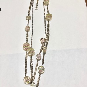 """Chanel Chanel extra long 40""""Multi station CC neclace"""