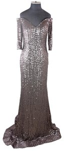 Jovani Sequin Embellished Sparkly Gown Fitted Dress