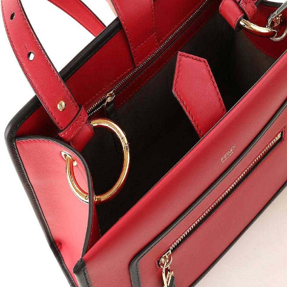 6099d6fda19b Fendi Runaway Shoulder Hand-bag Calf Shopping 8bh344 Red Leather ...
