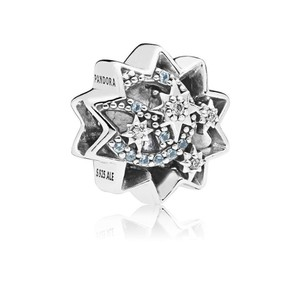 PANDORA Disney, When You Wish Upon A Star Charm, Light Blue Enamels & Crystals