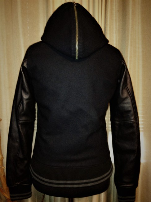 Nike Black Nsw Collection Destroyer / Wool Hooded Varsity Jacket Size 2 (XS) Nike Black Nsw Collection Destroyer / Wool Hooded Varsity Jacket Size 2 (XS) Image 3