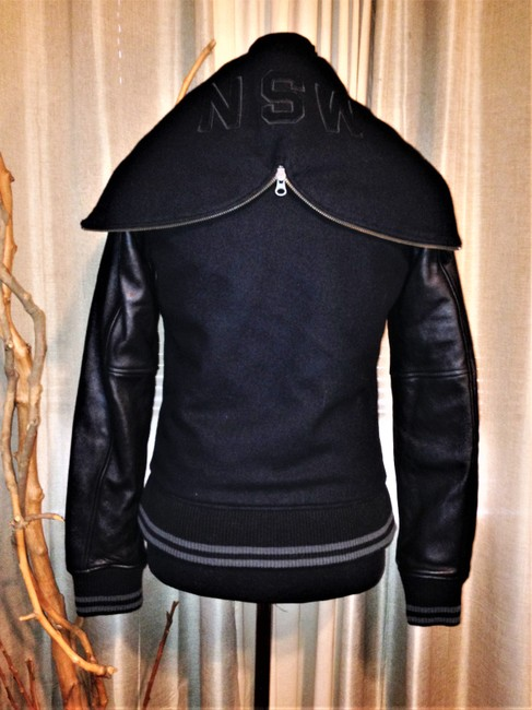 Nike Black Nsw Collection Destroyer / Wool Hooded Varsity Jacket Size 2 (XS) Nike Black Nsw Collection Destroyer / Wool Hooded Varsity Jacket Size 2 (XS) Image 4