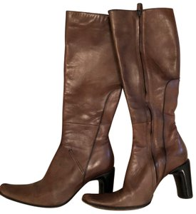 CoSTUME NATIONAL Leather Brown Boots